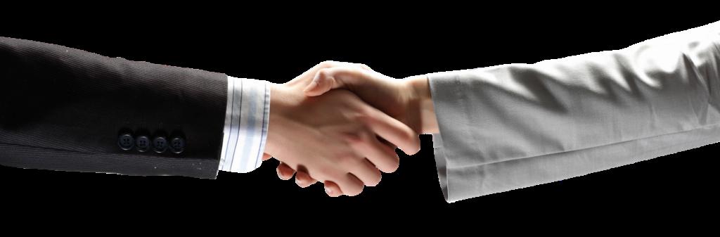 לחיצת יד בין 2 גברים